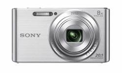 Sony DSCW830S.CEH - DSC-W830 Digital Compact Camera Silver - 20.1 Megapixel 8x Optical Zoom 2.7