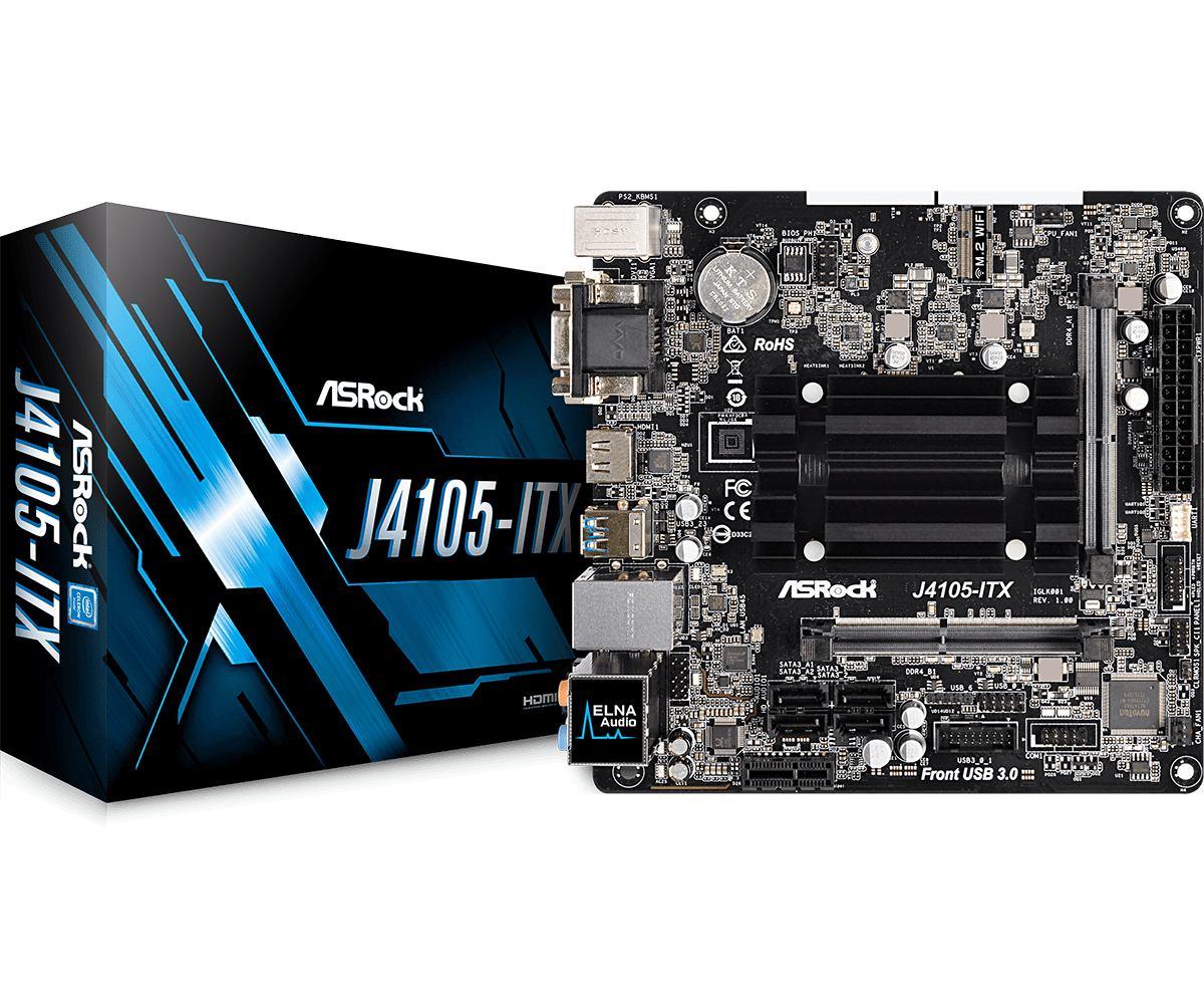 Asrock Intel J4105-ITX motherboard Mini ITX