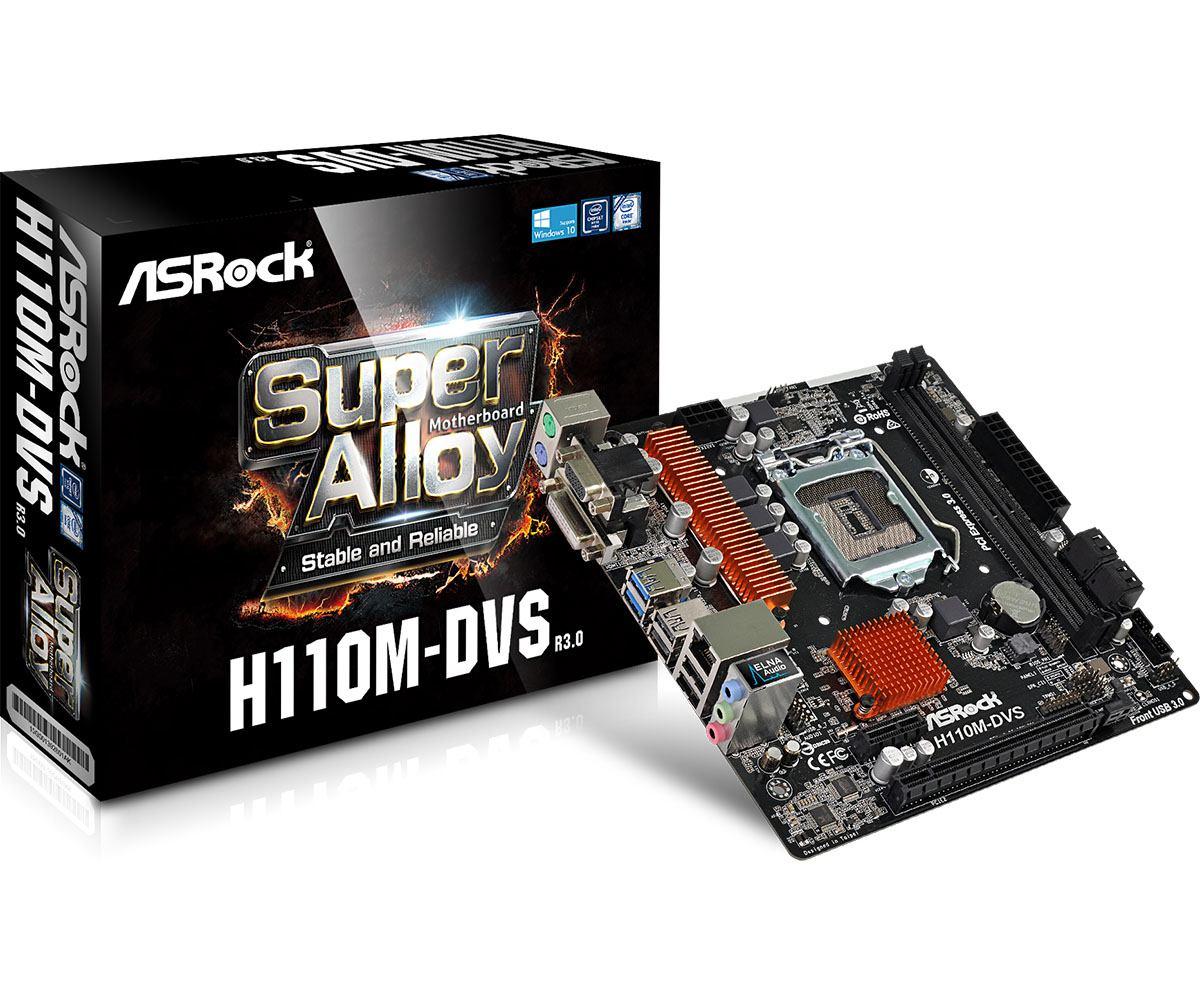 Asrock H110M-DVS R3 0 motherboard LGA 1151 [Socket H4] Micro ATX Intel® H110