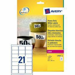 Avery l7060 20 avery white heavy duty laser labels for Avery t shirt transfer paper for laser printers