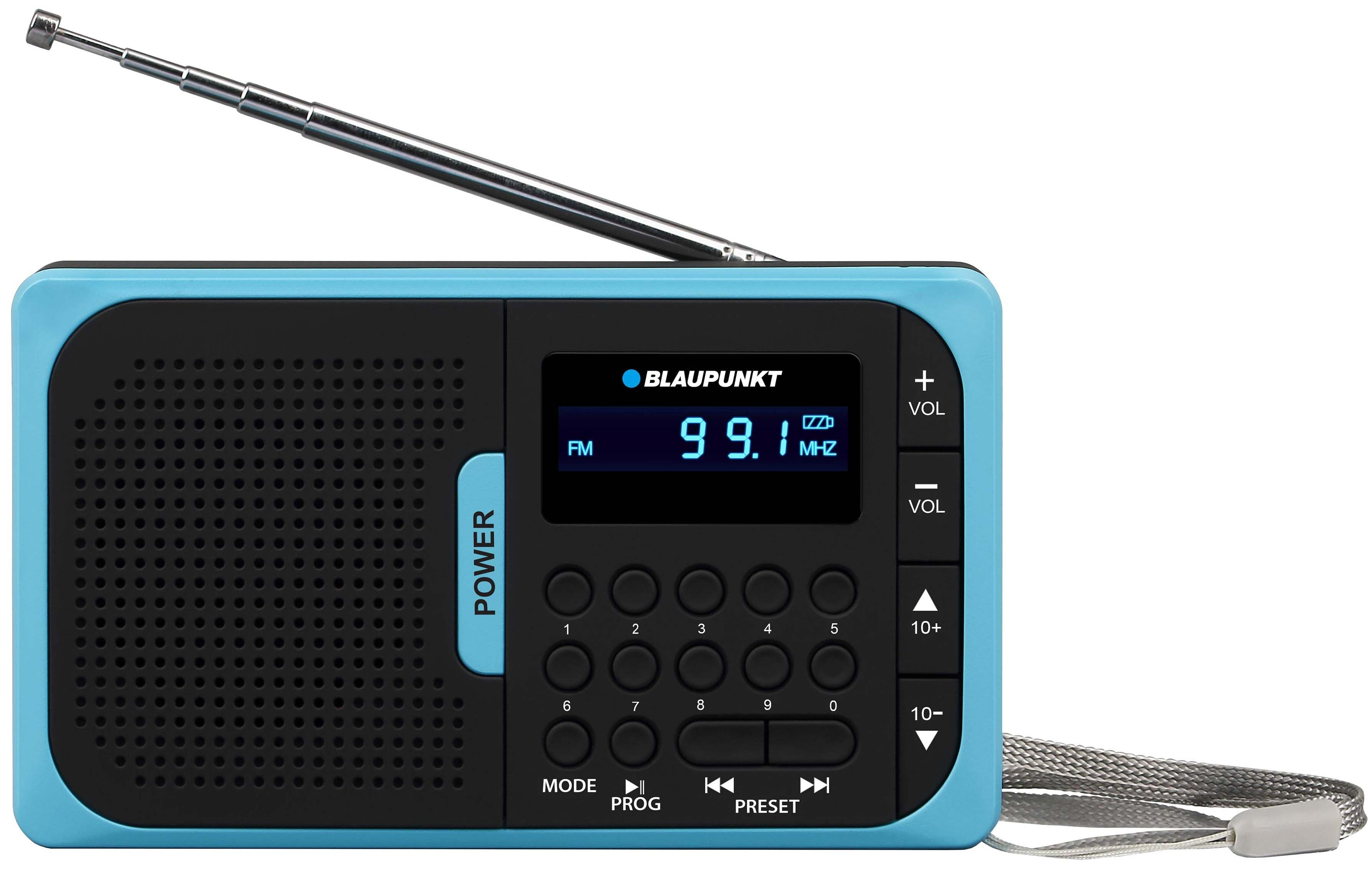 Blaupunkt Pr5bl Analog 1w Blackblue Radio Receiver Stereo Coder Multiplexer Pocket Pll Am Fm Usb Microsd With Battery Blue