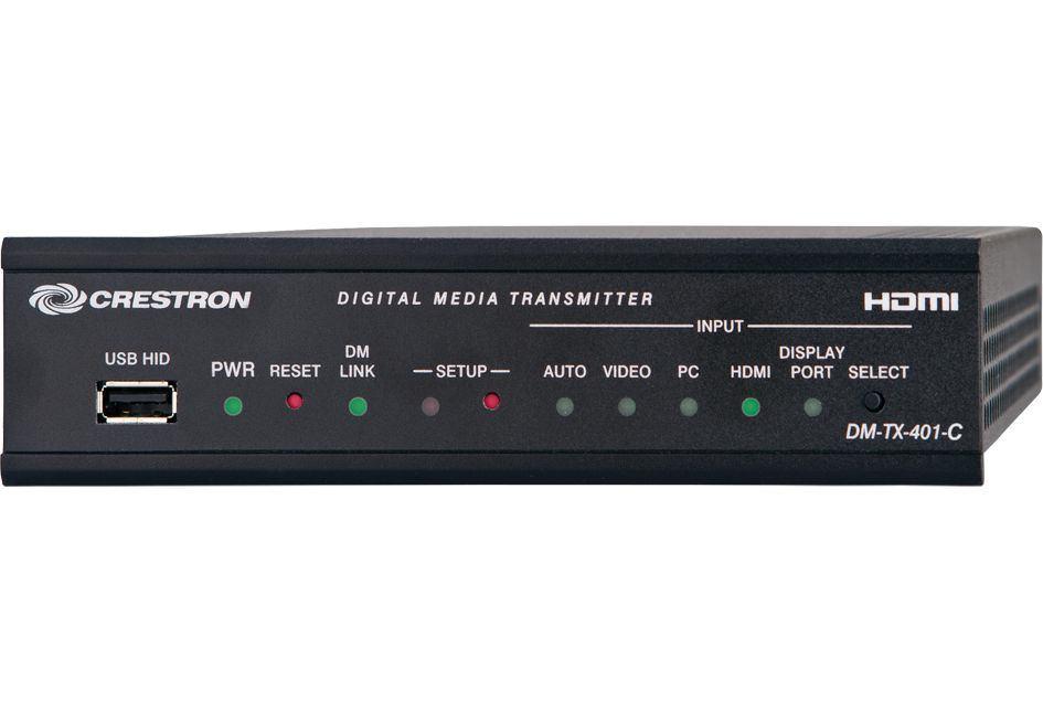 Crestron DM-TX-401-C AV extender AV transmitter Black