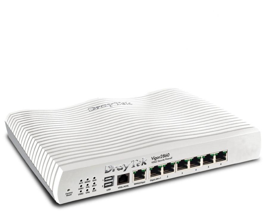 Draytek VIGOR2860 - Draytek Vigor2860 Ethernet LAN VDSL2 White wired ...