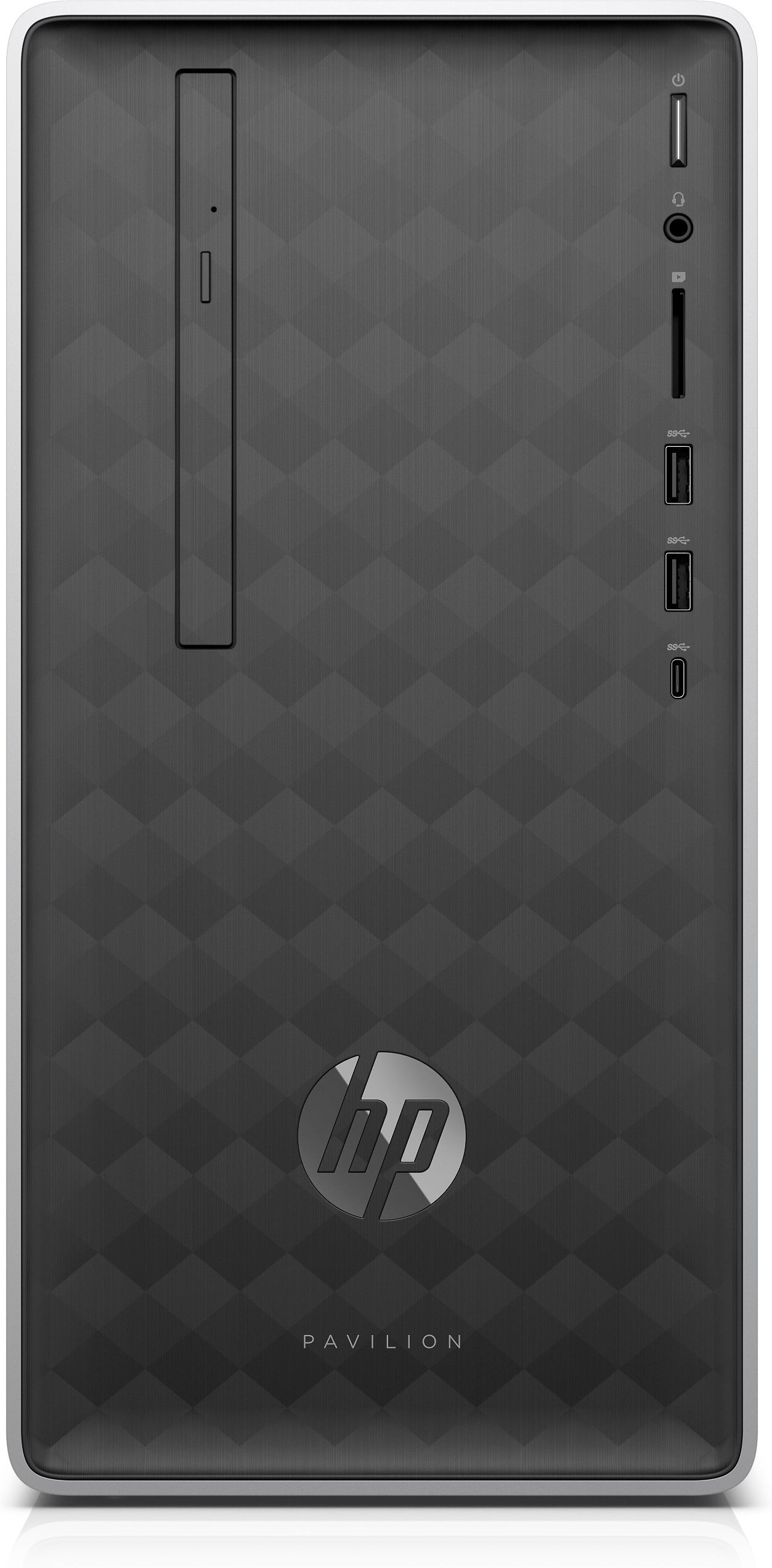 HP Pavilion 590-p0027na AMD Ryzen 3 2200G 4 GB DDR4-SDRAM 1000 GB HDD Black  Mini Tower PC