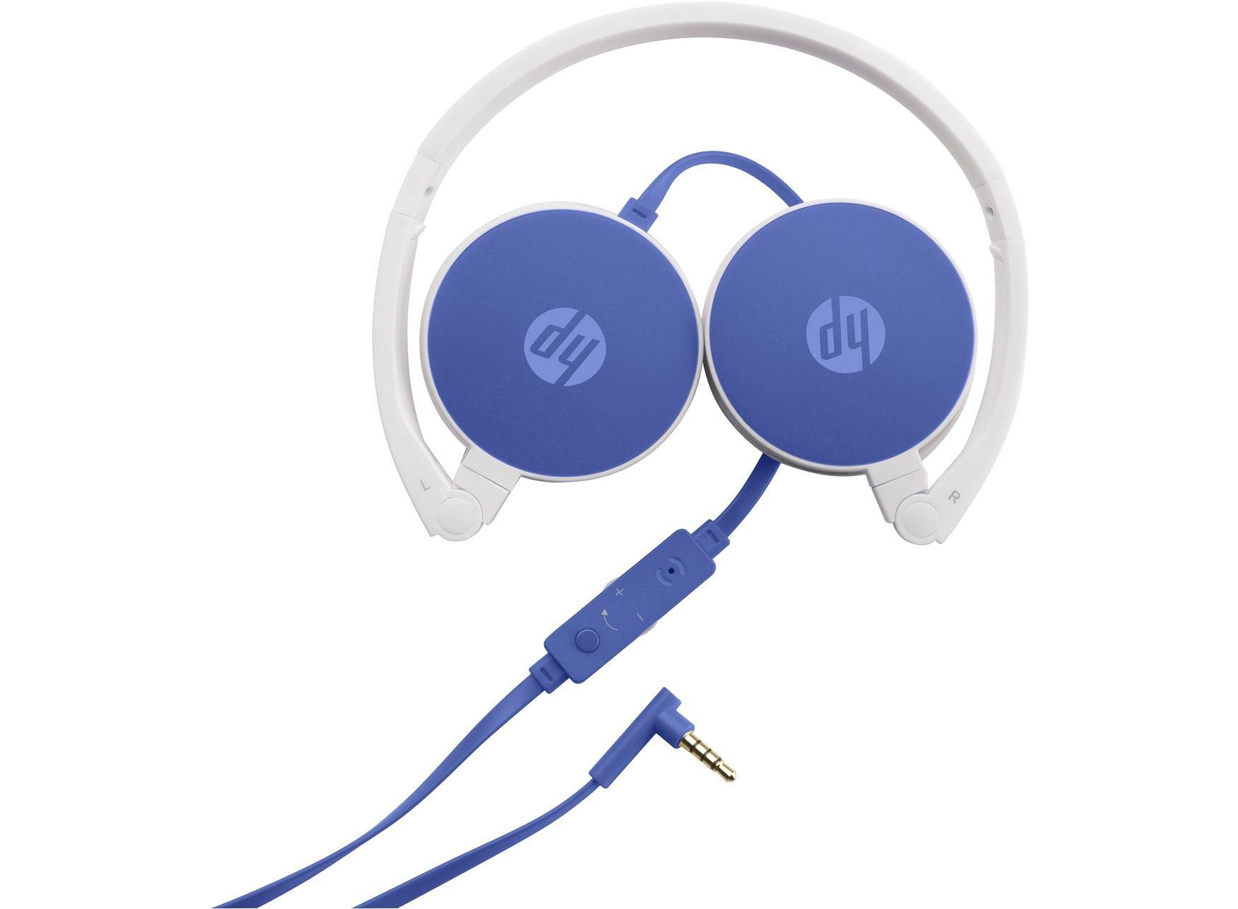 HP H2800 Binaural Head-band Blue