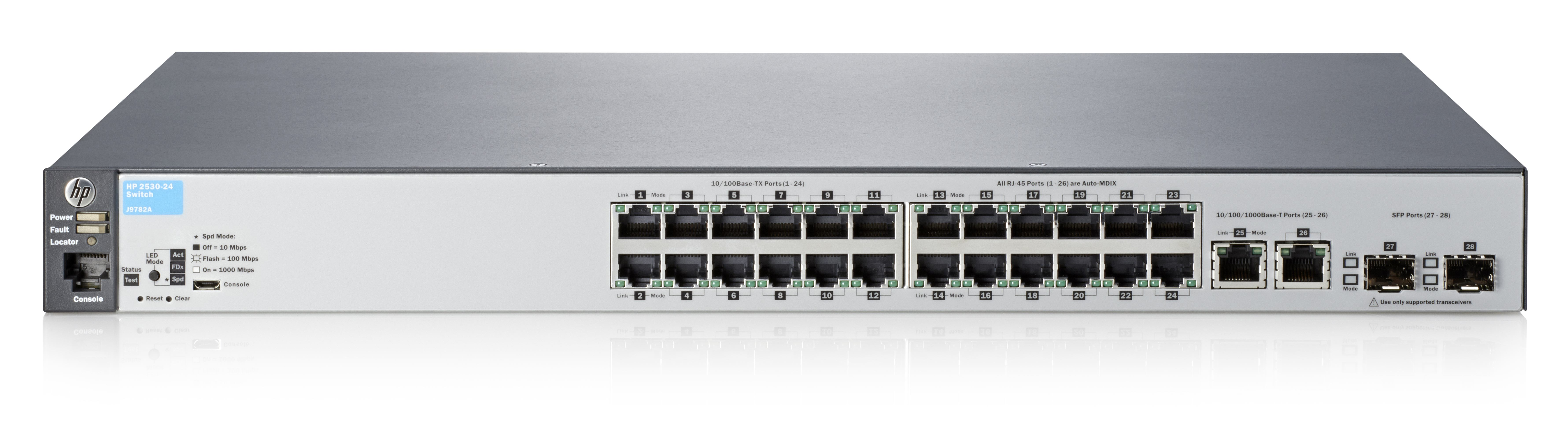 HPE Hewlett Packard Enterprise Aruba 2530-24 Managed L2 Fast Ethernet  [10/100] Grey 1U