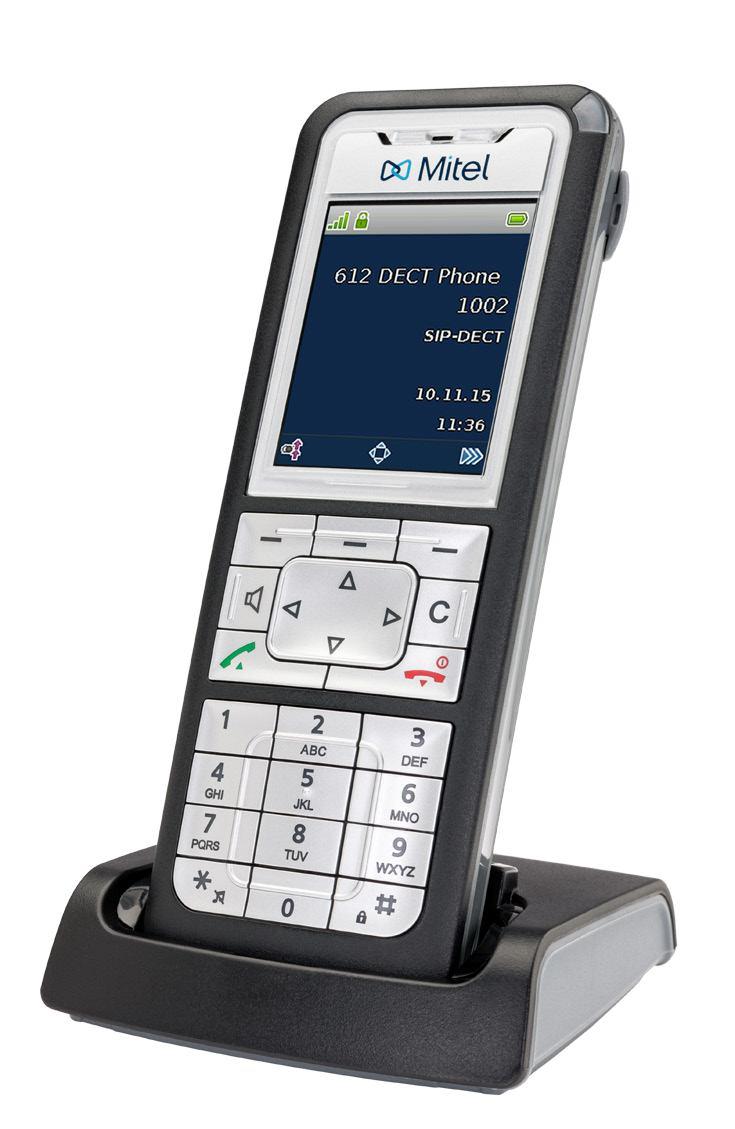 Mitel 612 DECT telephone Black,Silver