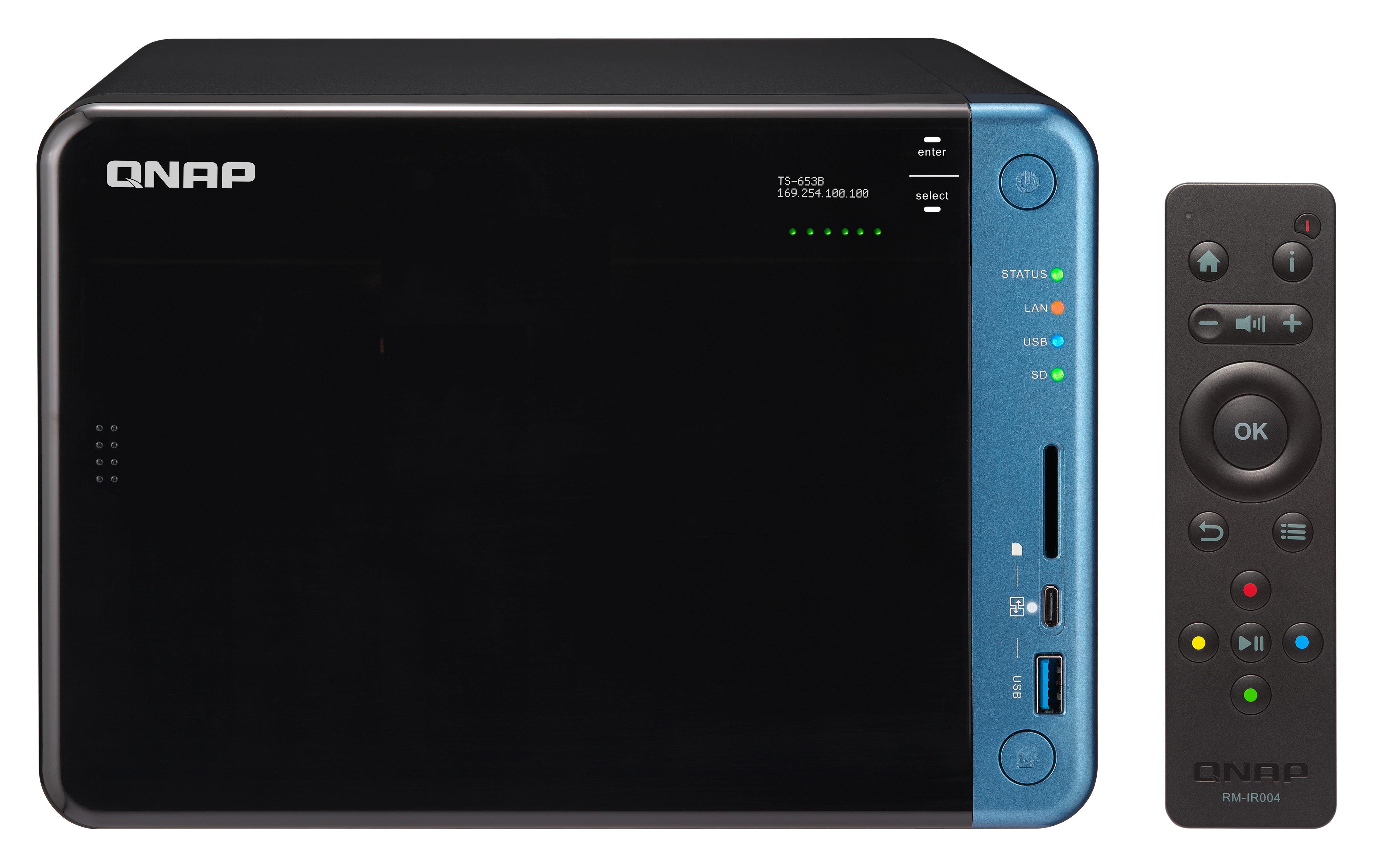QNAP TS-653B Ethernet LAN Tower Black NAS