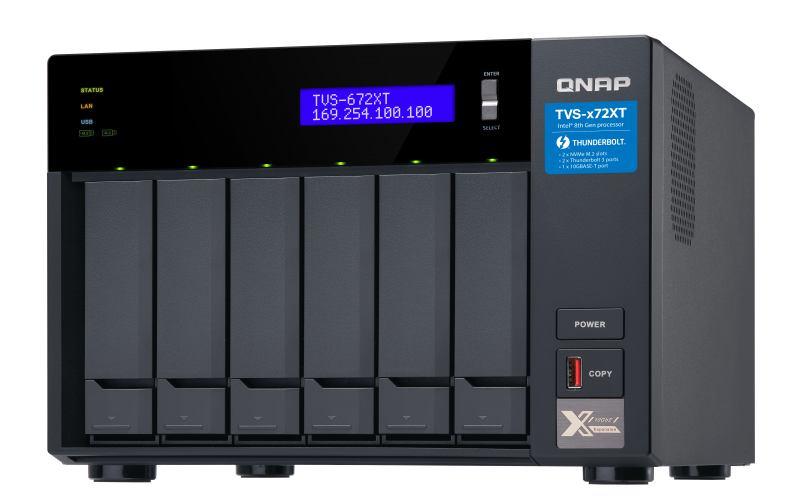 QNAP TVS-672XT Ethernet LAN Tower Black NAS