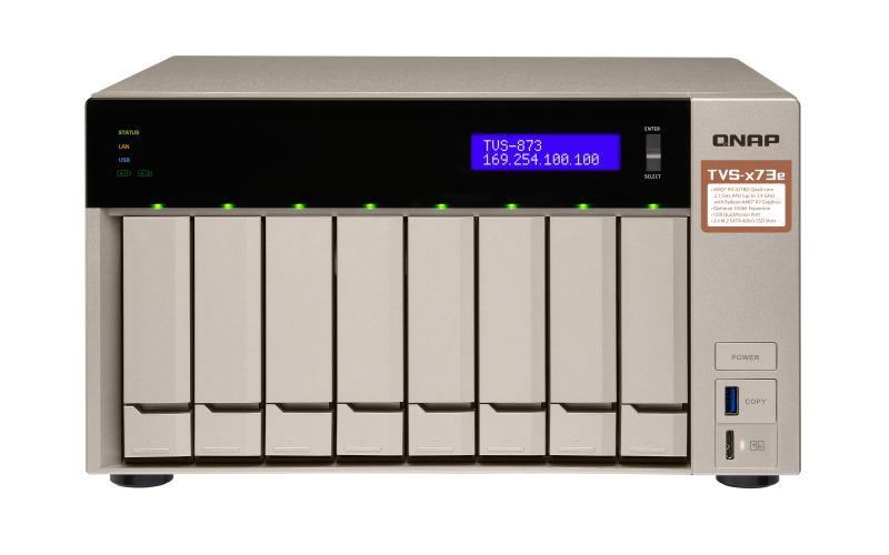 QNAP TVS-873E Ethernet LAN Tower Grey NAS