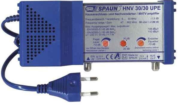 Spaun 811267 - Spaun HNV 30/30 UPE TV signal amplifier