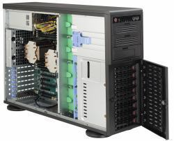 Supermicro 743AC-668B Full Tower Rack-Mountable Workstation / Server Case  with 668W 80PLUS Platinum Power Supply