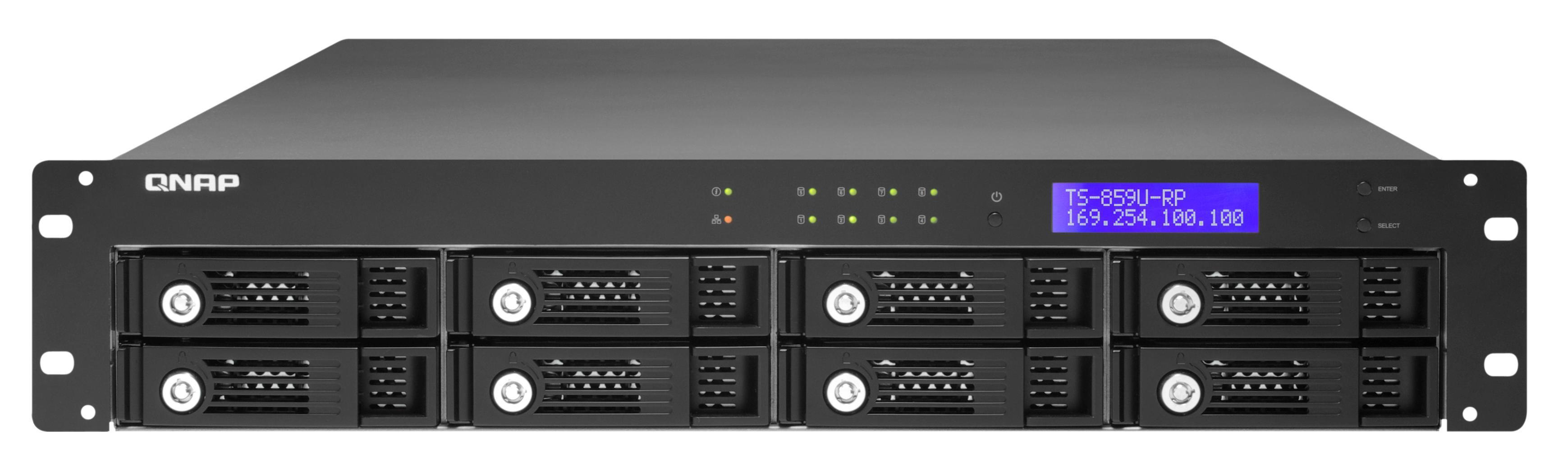 QNAP TS-859U-RP - QNAP TS-859U-RP Rack [2U] storage server