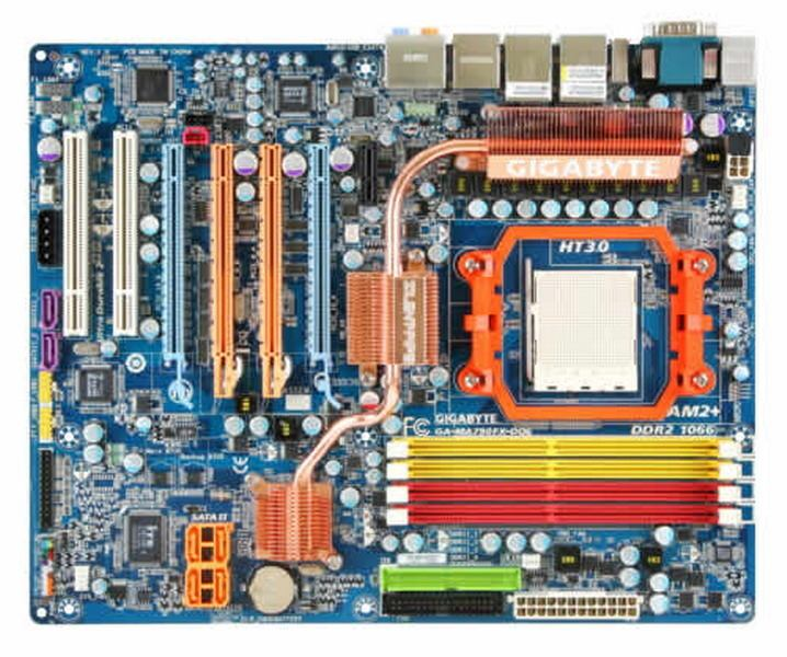 Gigabyte GA-MA790FX-DQ6 - Gigabyte AMD790FX motherboard Socket AM2