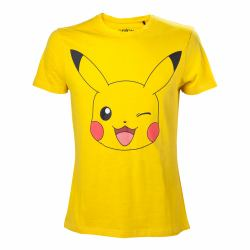 51ad71f00 POKEMON Pikachu Winking T-Shirt, Male, Large, Yellow (TS120320POK-L)