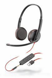 9fabf1995f8 Plantronics Blackwire 3225 headset Binaural Head-band Black (PLX BLACKWIRE  BIN C3225 USB-A)