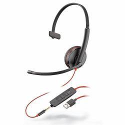 49efe4038b9 Plantronics Blackwire 3215 Monaural Head-band headset (PLX BLACKWIRE MON  C3215 USB-A)