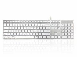 a84f34a8e87 Accuratus KYBAC301-UMAC-US keyboard USB QWERTY US English White (301 Mac  USB Wired Keyboard White/Silver US)